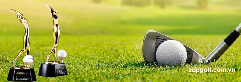 cúp golf pha lê kim loại